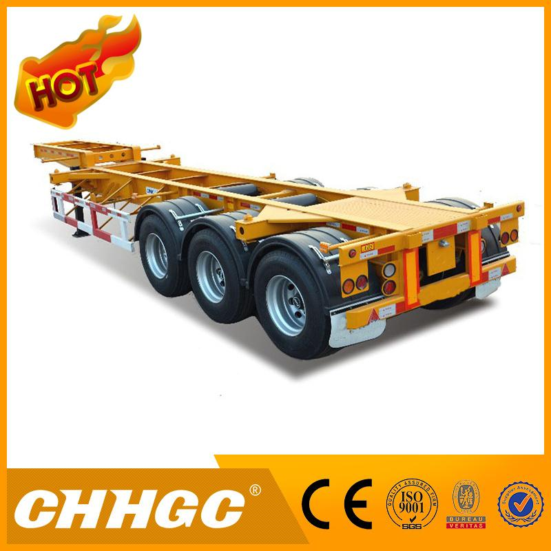 Best price yard chassis bomb cart terminal semi trailer for sale