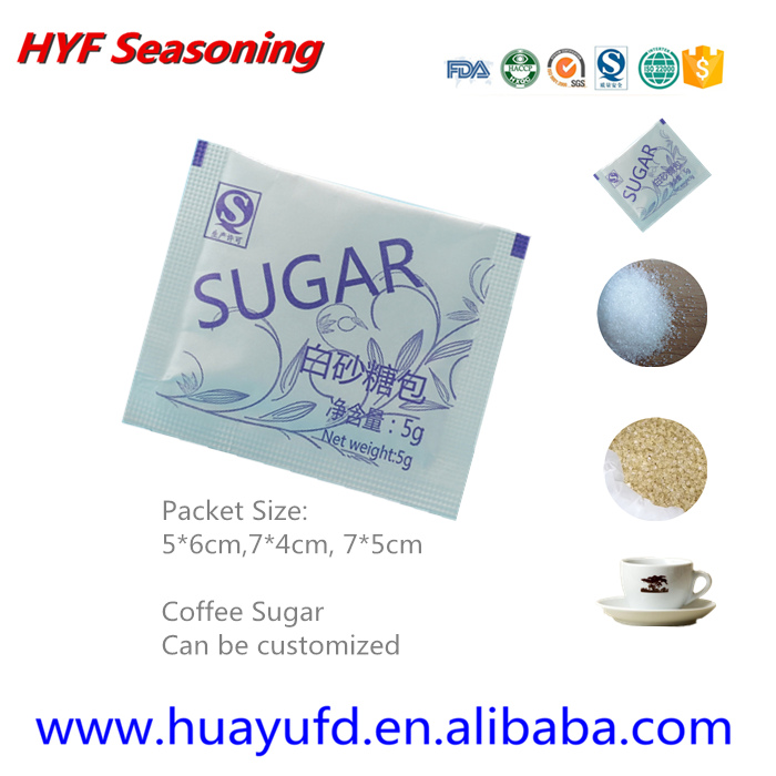 Customized 3g 4g 5g portion packet Coffee Sugar in Coffee sugar Packet
