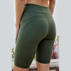 Wholesale custom private label women athletic running wear high waist workout gym yoga shorts for women fitness wear