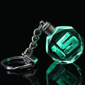 Custom Your Own Logo Led Keychain Crystal With Cheap Price Wholesale