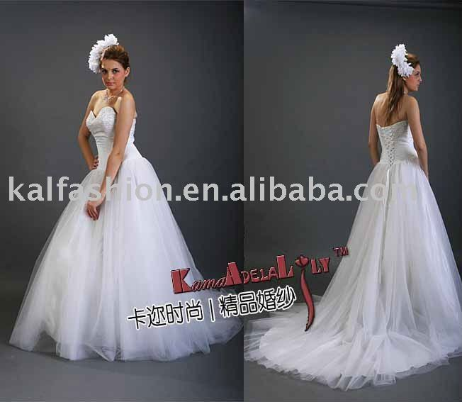 EB511 Attractive cosset Ball gown fluffy tulle layer Wedding dress