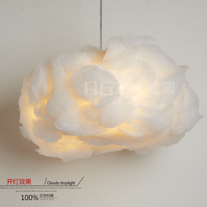 Various shape color changing cotton cloud soft pendant lights for bar shop