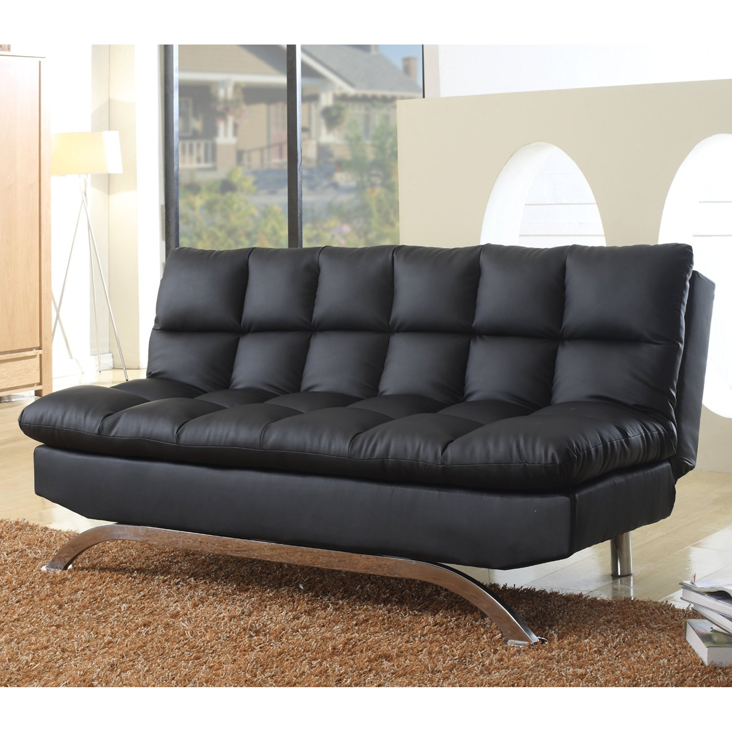 Modern Luxury Quality Futon Sofa Bed Chair Lounge Loveseat Home Office Bedroom Living Room Furniture