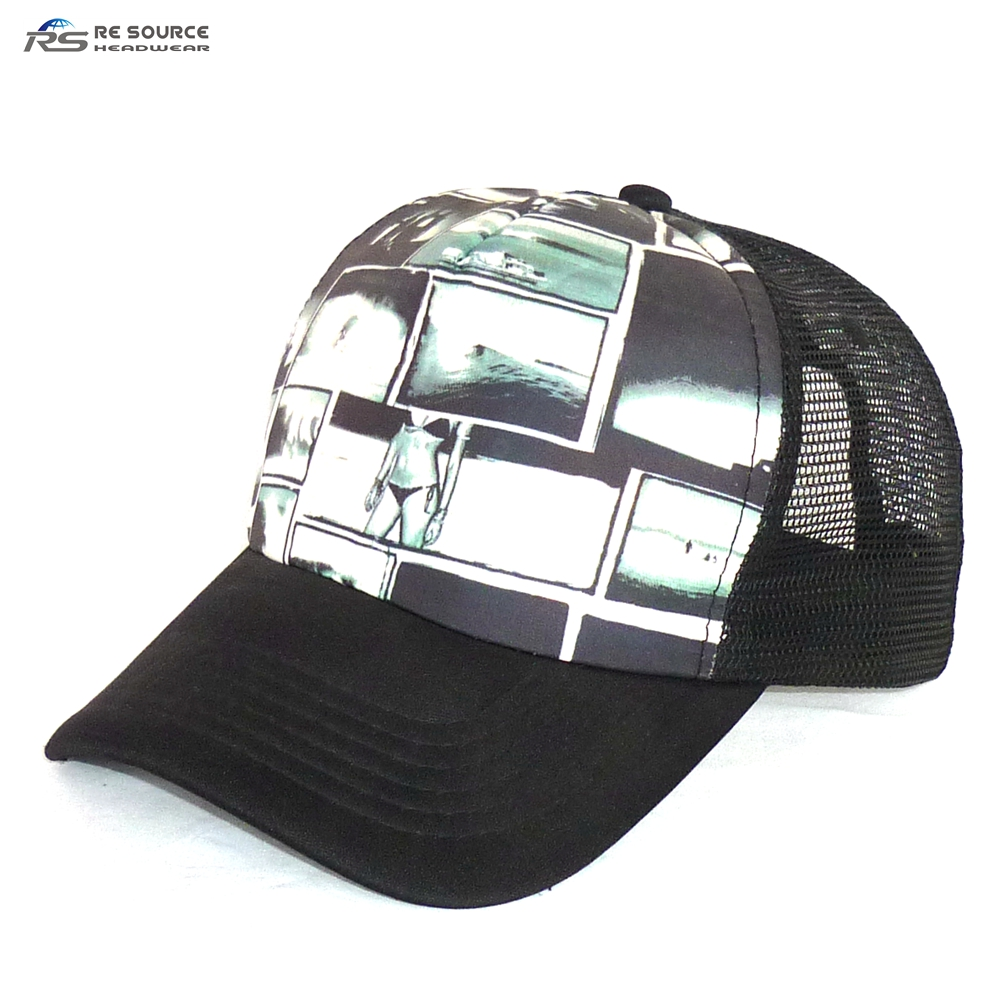 custom printed logo polyester foam mesh back trucker hats caps