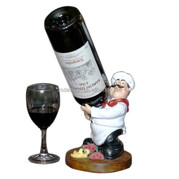 Wholesale Resin Decorative Chef Wine Bottle Holder Buy Decorative Magnificent Decorative Wine Bottle Holders