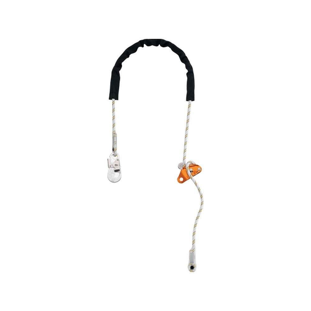 Petzl L52H003 Grillon Hook Adjustable Work Positioning Lanyard, Black/White, Standard