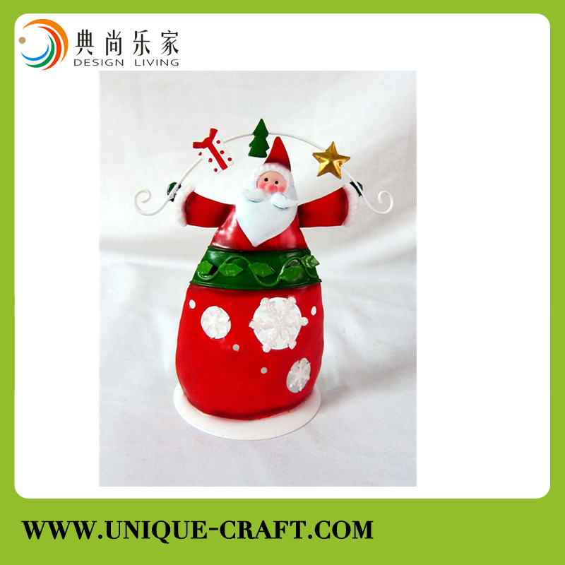 metal Christmas santa claus for home decoration