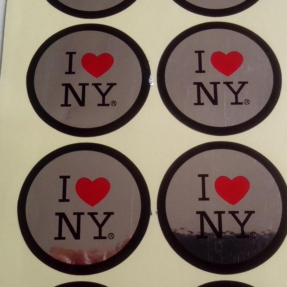 Best price round custom hat stickers self adhesive glossy logo printed sticker