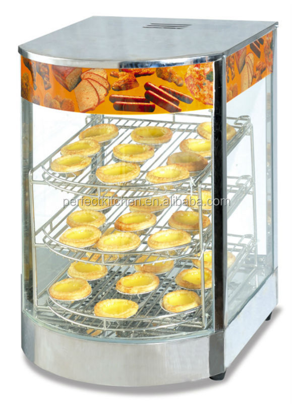 Curved Glass Electric Food Warmer Cabinet /heated Food Cabinet ...