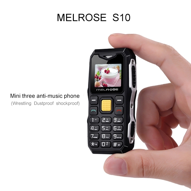 Melrose S10 Waterproof Rugged Phone 1.0 inch Anti-lost FM 2G Cell Phone