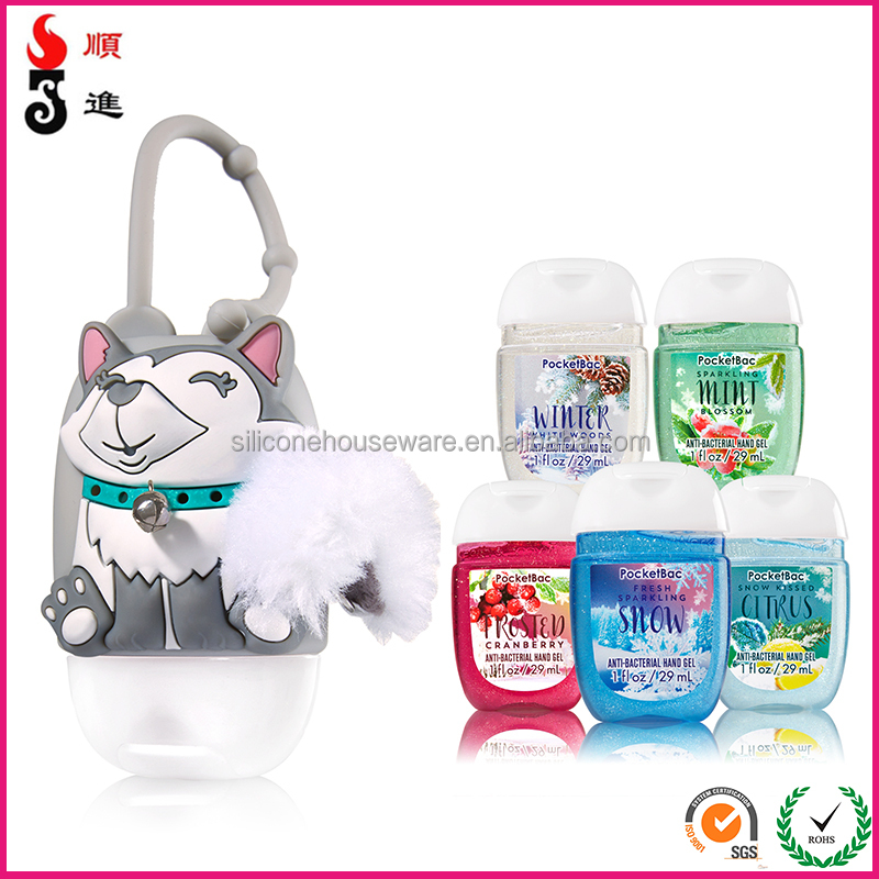 Antibacterial hand gel 29 ml hand sanitizer pocketbac with silicone holders