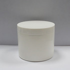 Wholesale Round White PP Large Double Wall Cosmetic Plastic Jars