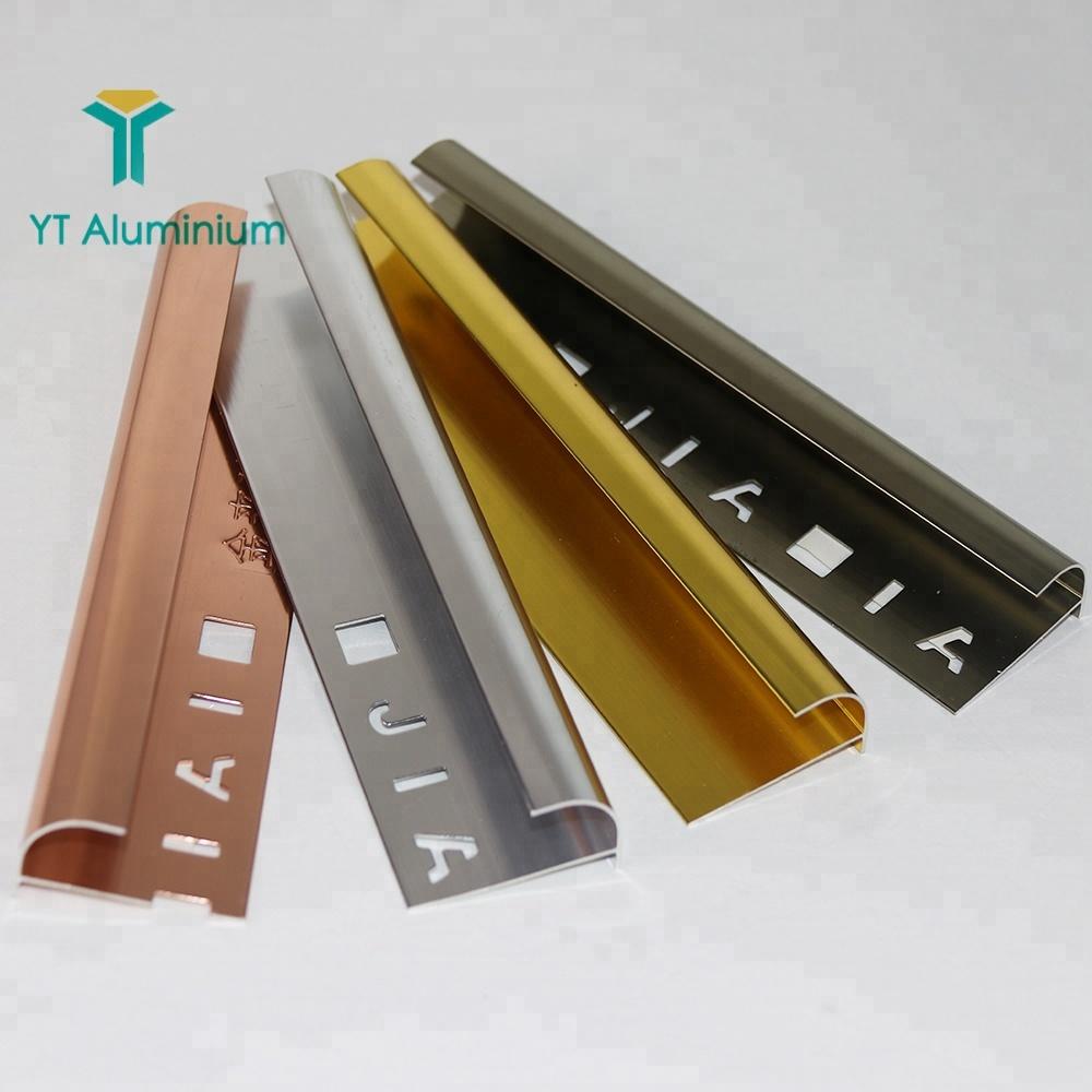 Aluminium Sliver Polishing Trim Bronze Metal Tile Angle Shape Corner Ceramic Edging