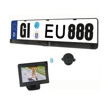 Europe Licence Frame Plate Wireless Parking Assist Video Backup Camera  Reverse Sensor With 4 3 Inch Wireless Tft Lcd Monitor - Buy Wireless  Reverse