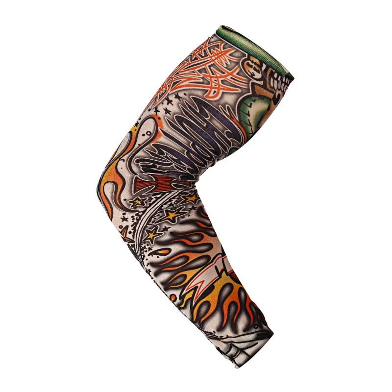 Professional Sale Anti-sunshine Fashion Men And Women Tattoo Arm Leg Sleeves High Elastic Nylon Halloween Party Dance Party Tattoo Sleeve Apparel Accessories