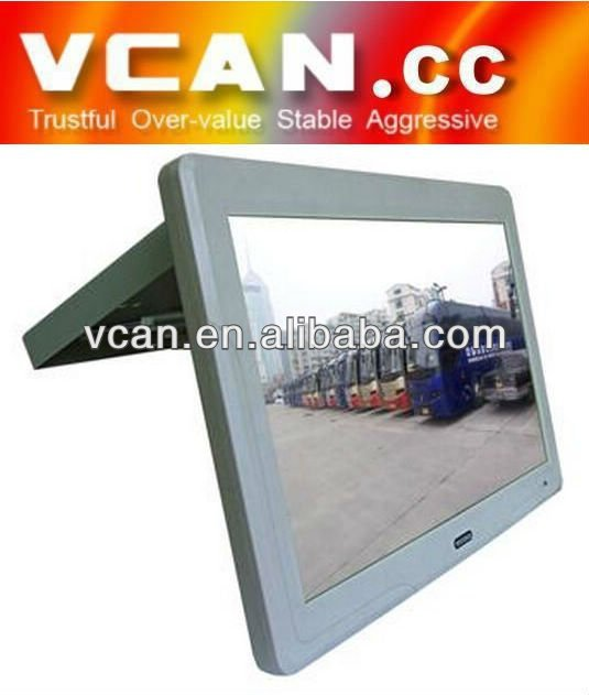 VCAN0363 Super Full Automatic 19Inch Flip Down Bus Monitor ,IR FM transmitter/USB SD roof mount tv