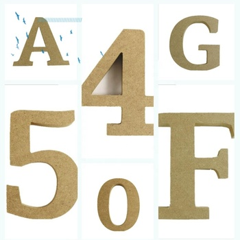 Wholesale Cheap Unfinished Art Minds MDF Wood Letters