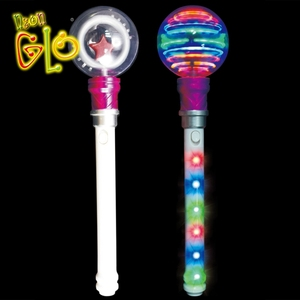 Kid Toy Led Spinning Light Up Princess Wand for Party