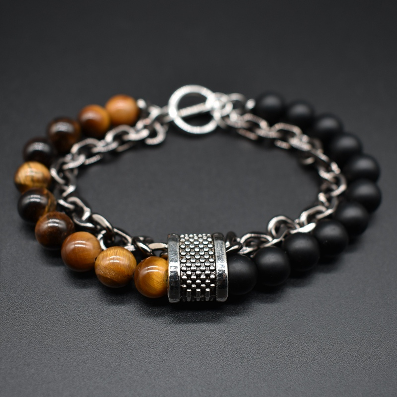Imported From Abroad Fashion Natural Stone Couple Bracelets For Women Men Rose Quartzs Tiger Eyes Agates Beaded Yoga Bracelets Pulseira Masculina Bracelets & Bangles Strand Bracelets