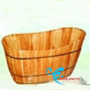 2016 hot selling Pine solid Wood bathtub