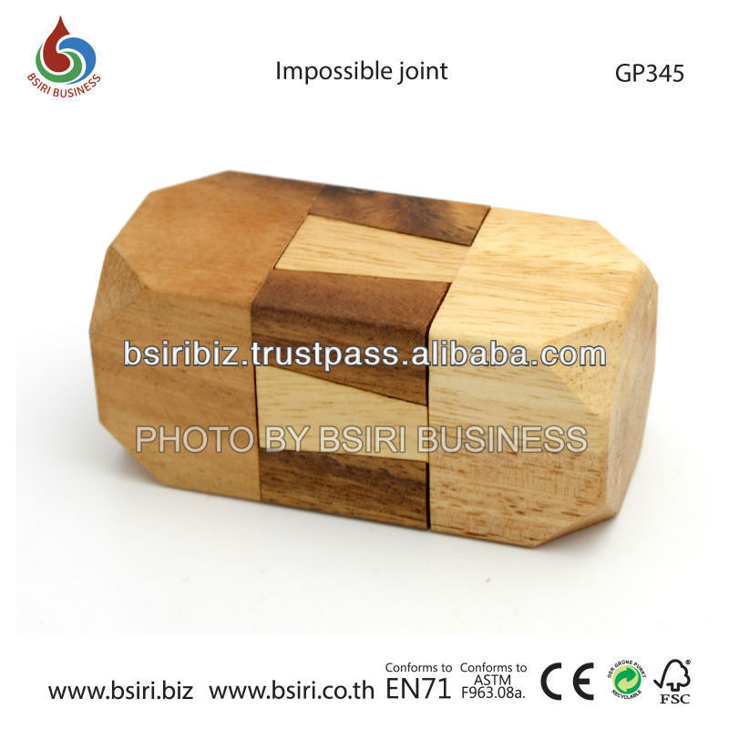 wooden puzzels Impossible joint