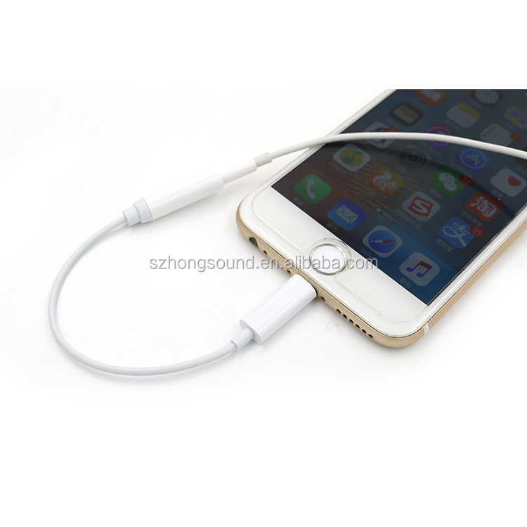 Hot selling Cable Splitter for iPhone 7 Earphone Audio Adapter cable for iPhone 7