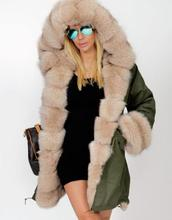 Ecoparty Women Ladies Winter Long Warm Thick Parka Faux Fur Jacket Hooded Coat