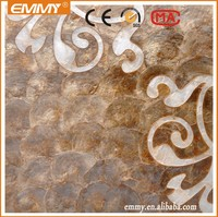 Yellow capiz shell styles inlay mosaic tile for house wall decorative