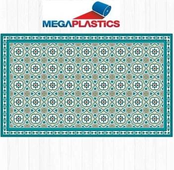 Pvc Mat With Vintage Tiles Design