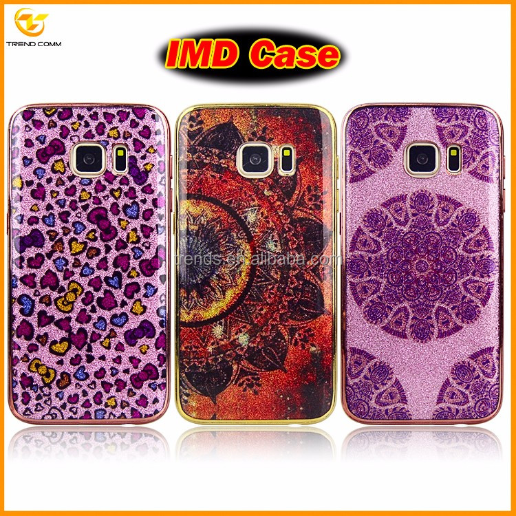 wholesale electroplating IMD plastic case for samsung galaxy S7