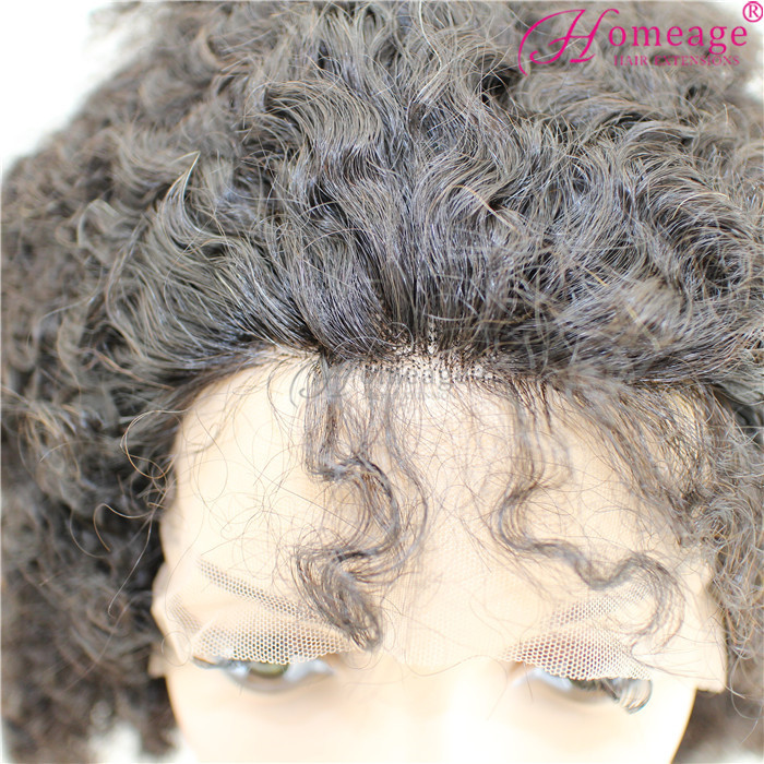 Homeage crazy beautiful Human hair full lace wig, peruvian human hair full lace wigs kinky afro
