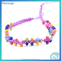 woven bracelet for women with colorful beads lady jewelry