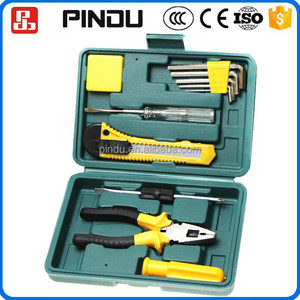 various type of mini auto repairing household tool kit set for maintenance man