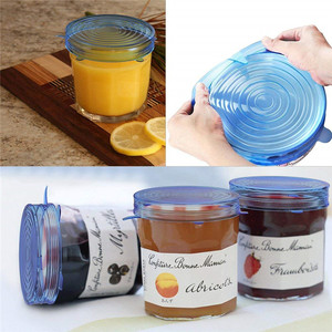 Organic Material Can Be Recycled Silicone Stretch Lids