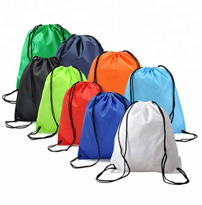 2018 Hot sale 210T nylon promotional sport drawstring bag