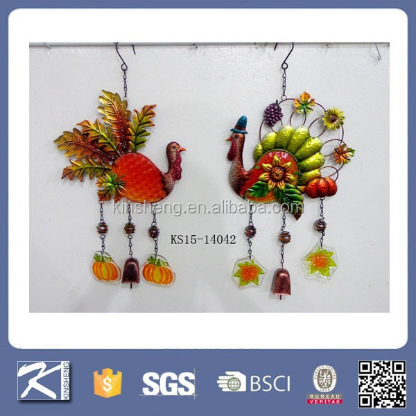 Colorful metal animal wind chimes garden decoration