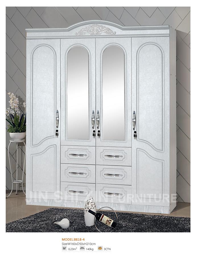 4 portes chambre bois armoire placard armoires avec miroir et tiroirs buy placard armoires. Black Bedroom Furniture Sets. Home Design Ideas
