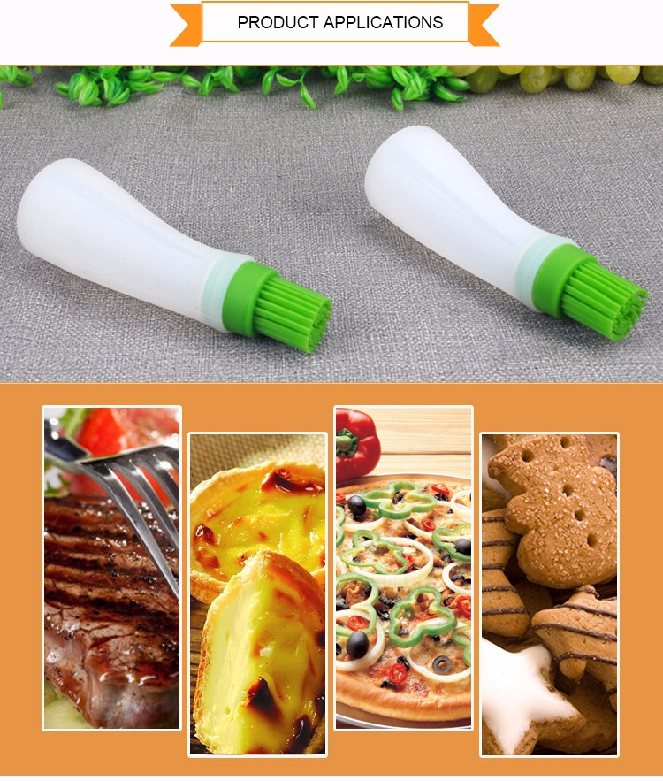 Best Silicone Pastry Basting Grill Barbecue Brush, Solid Core and Hygienic Solid Coating Brush