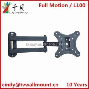 Popular 32 inch Full motion tv wall mount led tv wall bracket with factory price