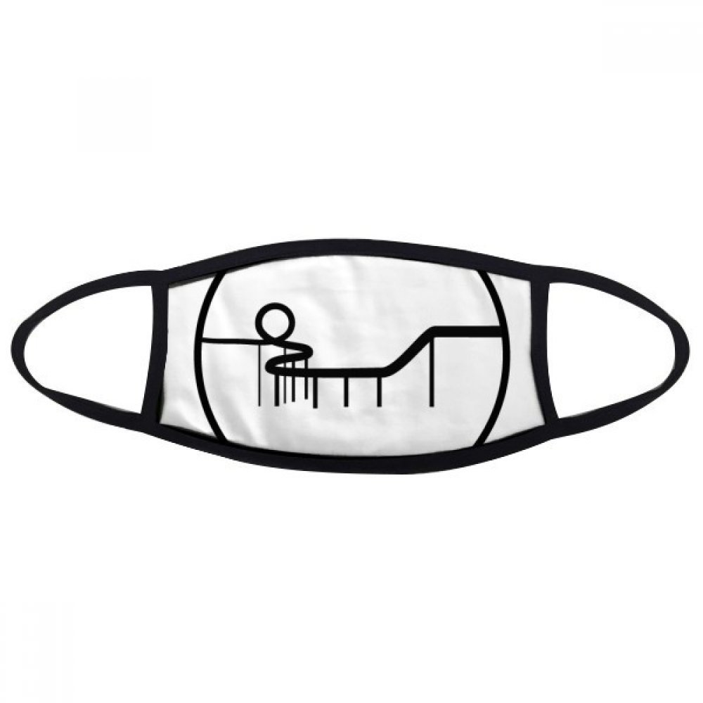 DIYthinker Roller Coaster Amusement Park Silhouette Mouth Face Anti-dust Mask Anti Cold Warm Washable Cotton Gift
