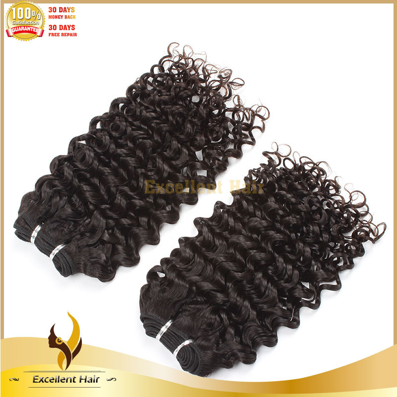 Factory Permanent Curling Natural Color 8-26 Inch Kinky Straight Unprocessed Human Virgin Brazilian Hair Extension