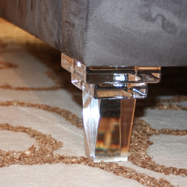 Custom Mordern Clear Lucite Sofa Legs Acrylic Furniture