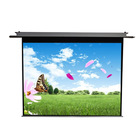 Matte white electric motorized ceiling mounted display projection screen 100 inch