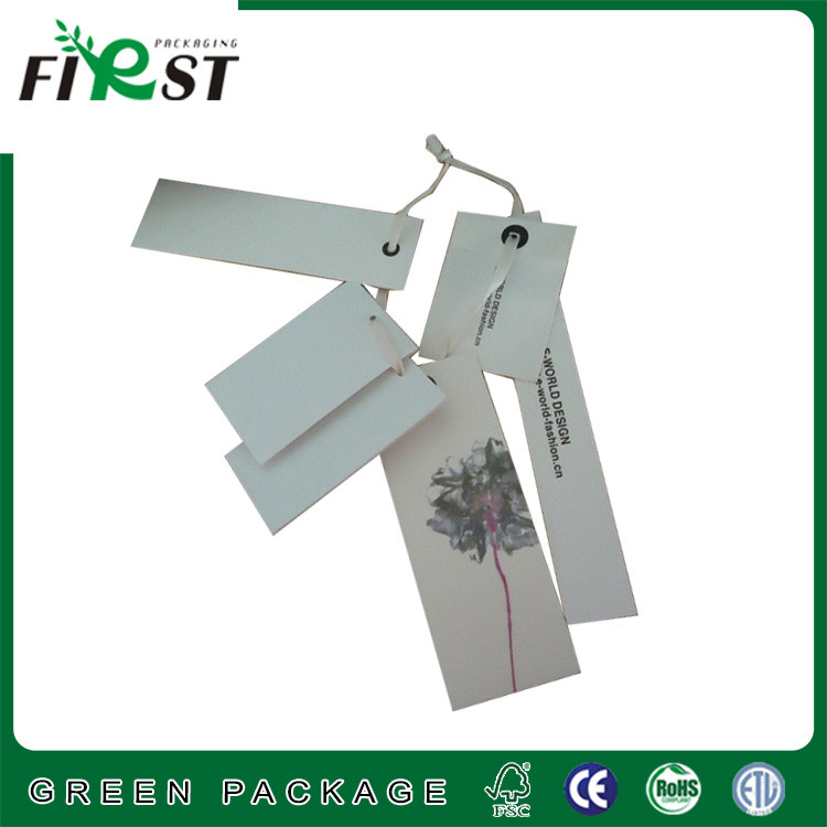 high end garment paper hangtag supplier/hang tag string use for clothing/Newest professional Paper Hangtag