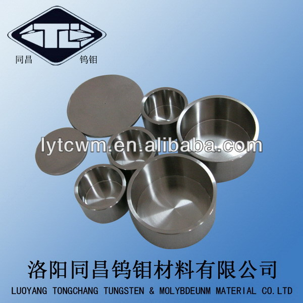 pure molybdenum crucibles(forged) Molybdenum Crucible for saphire growing furnace