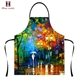 2018 newest style fashion cheaper gifts 3D custom made blue adult aprons for painting