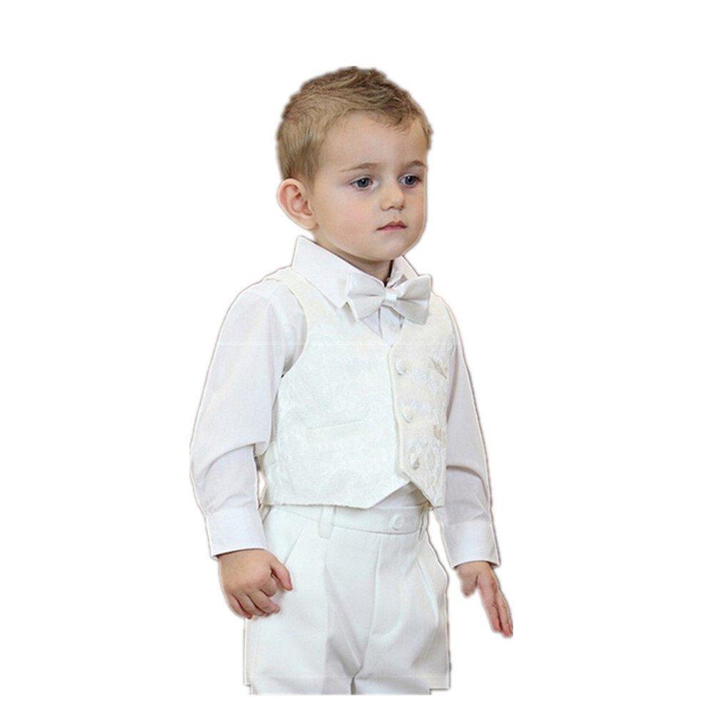 TigerTie - Ropa de bautizo - Básico - para bebé niño. Ideal para el bautismo o una ocasión festiva. Ajustable: anchura del cuello se puede personalizar (circunferencia del cuello de .