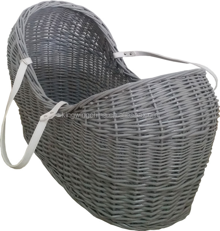 Wholesale Pod Wicker moses basket