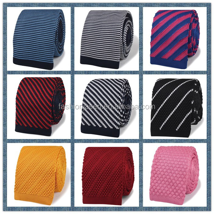 High quality wholesale silk knitted necktie