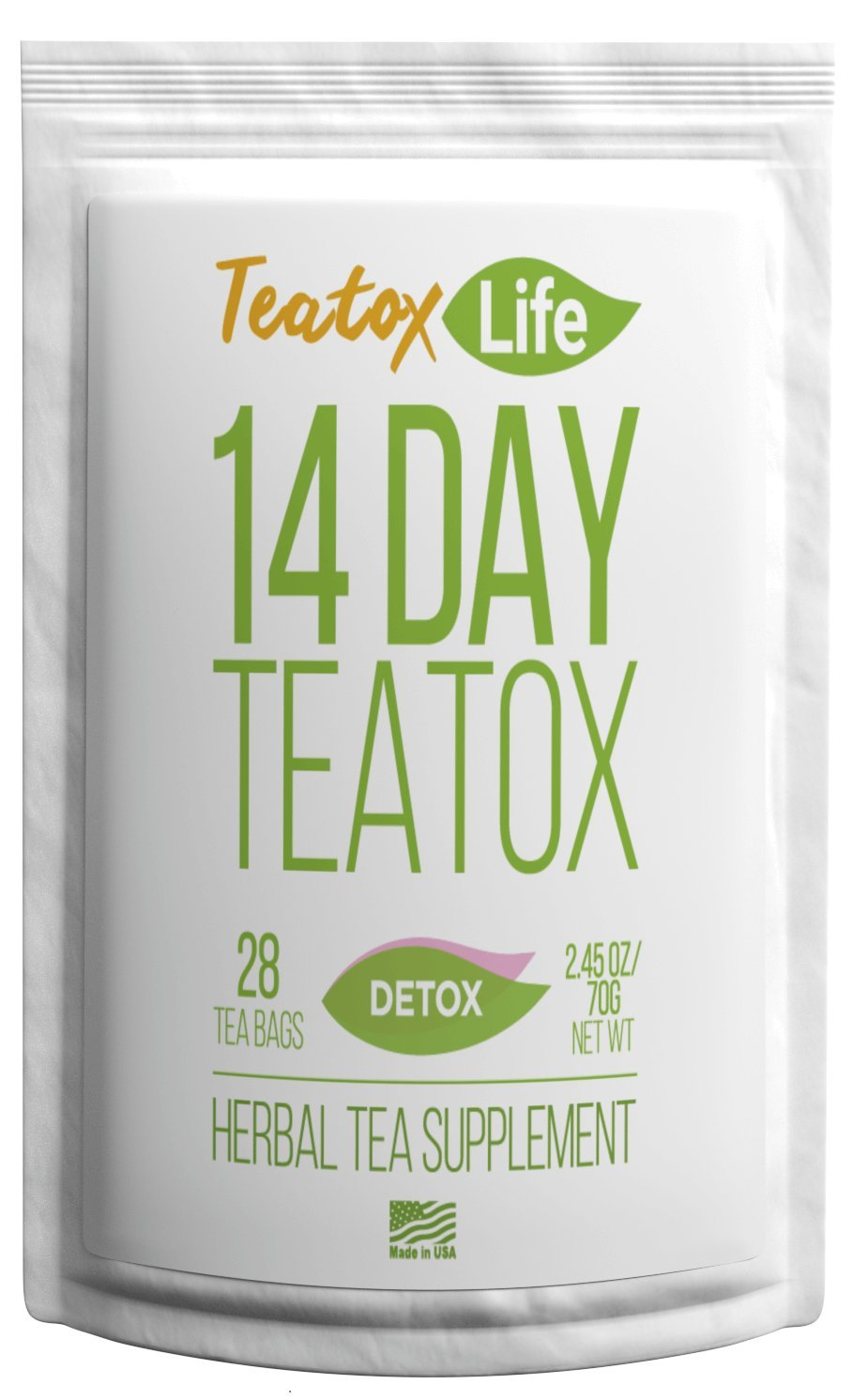 Teatox Life Detox Tea   Healthy Natural Weight Loss Slimming Tea For Women & Men   Organic 14 Day / 28 Day Body Cleansing Treatment   Metabolism Boosting Flat Tummy Tea
